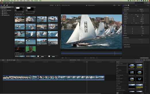 Shot of Final Cut Pro sydney harbour screen